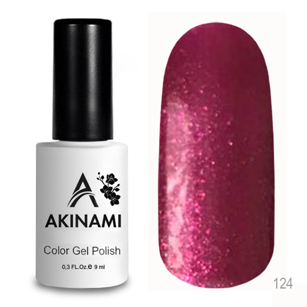 гель-лак akinami color gel polish, classic collection, berry dance а124 по цене 249 руб.