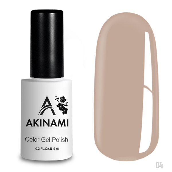 гель-лак akinami color gel polish, classic collection, pale beige a004 по цене 249 руб.