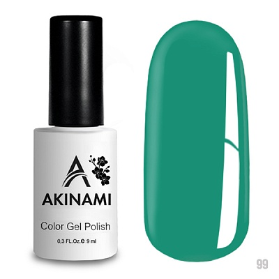 гель-лак akinami color gel polish, classic collection, turquoise а099 по цене 249 руб.